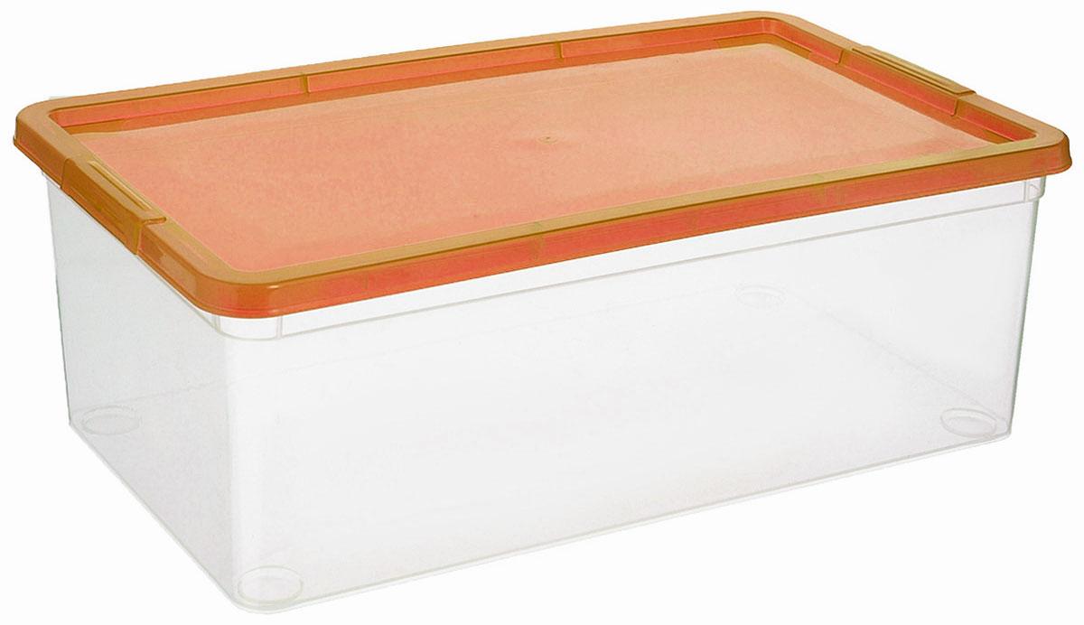 Коробка для мелочей Полимербыт, цвет: оранжевый, 5,5 лС511_оранжевыйКоробка Полимербыт выполнена из высококачественного цветного пластика и предназначена для хранения различных мелочей. Контейнер плотно закрывается крышкой. Коробка Полимербыт очень вместительна и поможет вам хранить все необходимые вещи в одном месте.Объем коробки: 5,5 л.