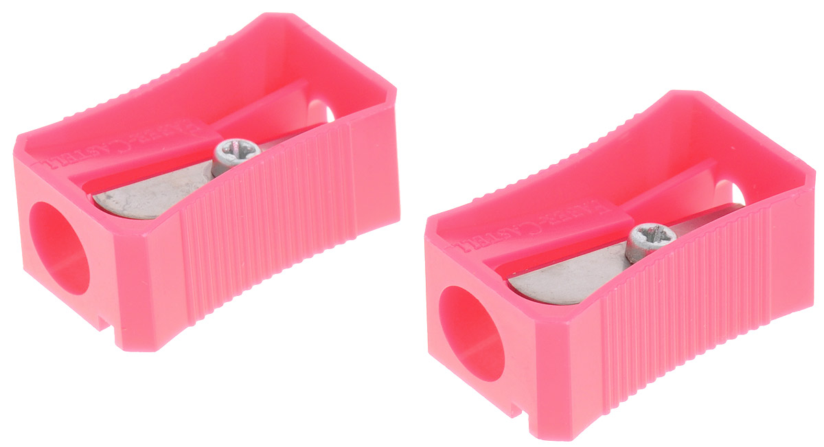 Faber-Castell Точилка цвет розовый 2 шт faber castell точилка флуоресцентная цвет розовый красный 2 шт