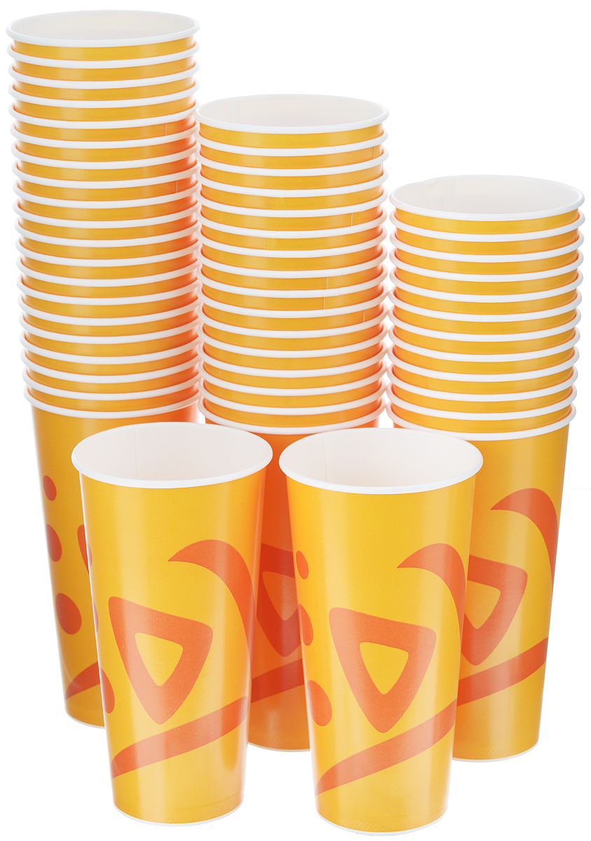 Набор одноразовых стаканов Huhtamaki Whizz, 500 мл, 50 шт набор одноразовых тарелок huhtamaki whizz цвет оранжевый диаметр 23 см 50 шт