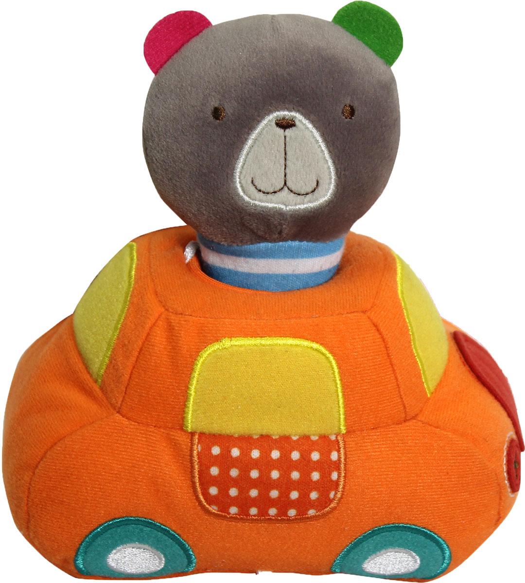 Bobby & Friends Мягкая развивающая игрушка Плюшевый транспорт цвет оранжевый серый мягкие игрушки bobby