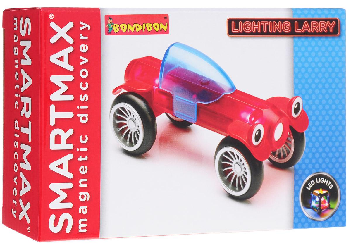 Bondibon Конструктор магнитный Smartmax Светящийся Ларри цвет красный конструктор bondibon грузовик своими руками bb1232