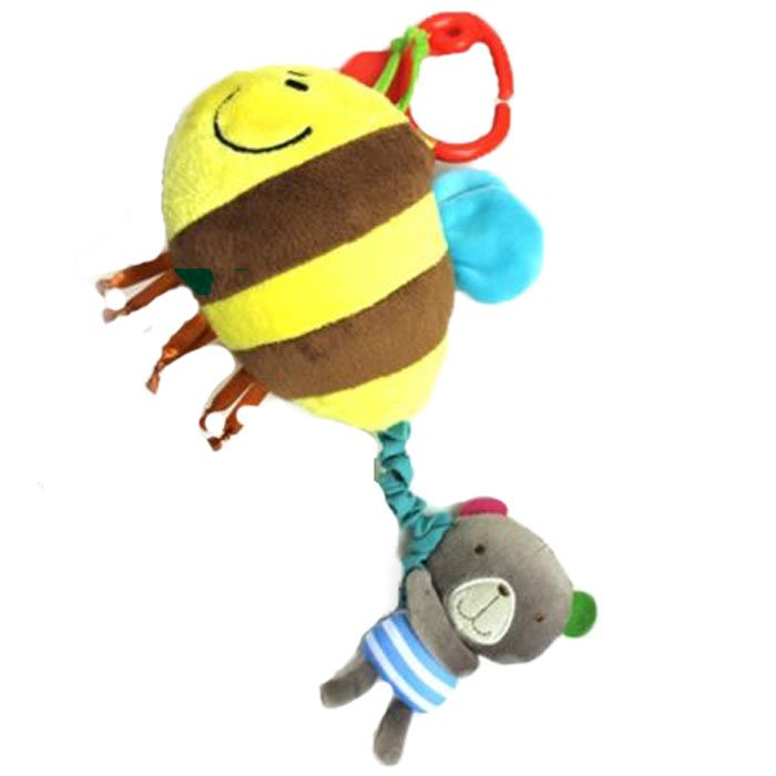 Bobby & Friends Игрушка-подвес Мишка с пчелой furreal friends интерактивная игрушка котёнок бутси