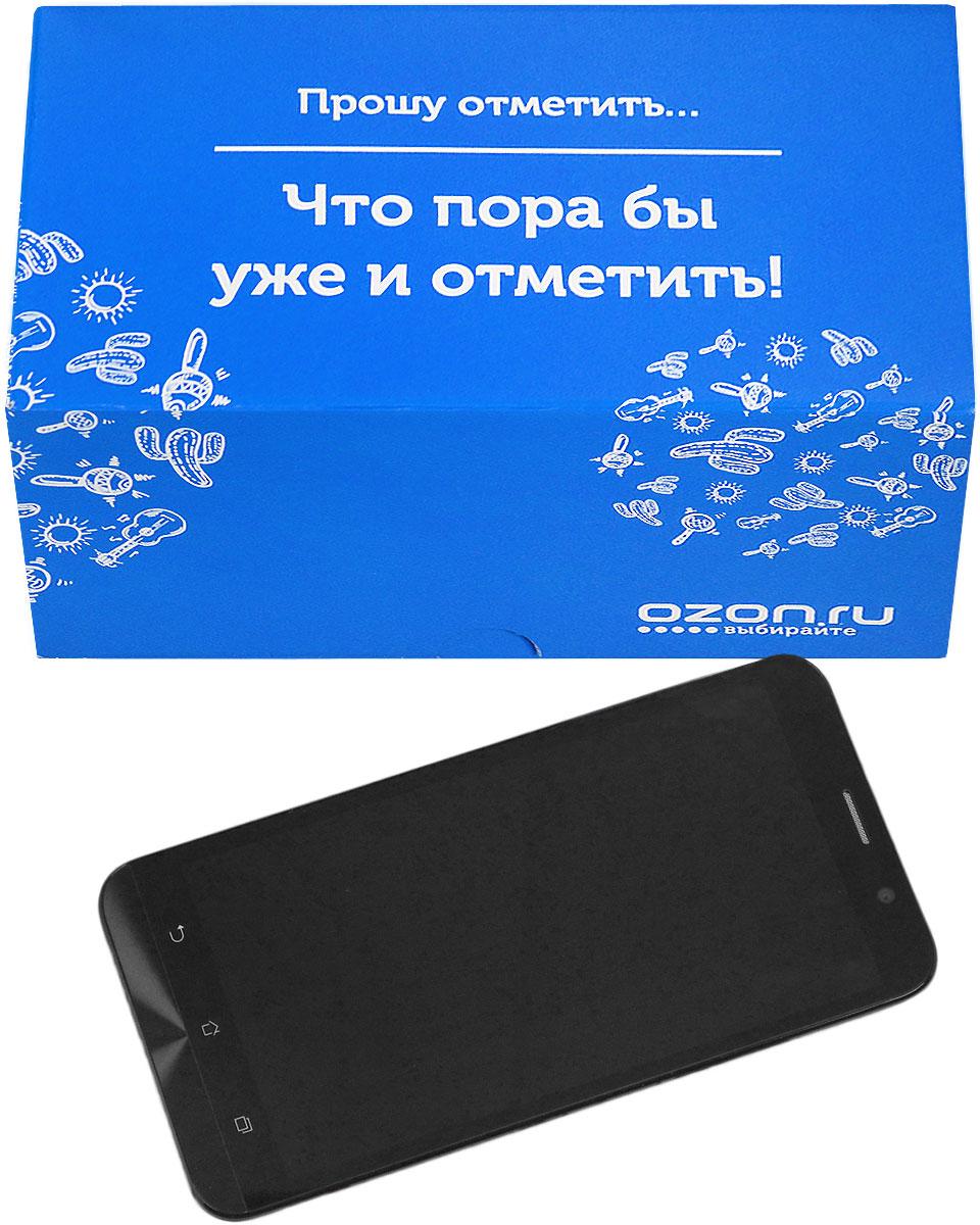 """Складная подарочная коробка от OZON.ru с веселой надписью """"Прошу отметить… Что пора бы уже и отметить!"""" - это интересное решение для упаковки. Коробка выполнена из тонкого картона с матовой ламинацией. Данная упаковка отлично подходит для небольших подарков и не требует дополнительных элементов - лент или бантов. Размер (в сложенном виде): 18 х 9.7 х 8.8 см.Размер (в разложенном виде): 28 х 18 х 0.5 см."""