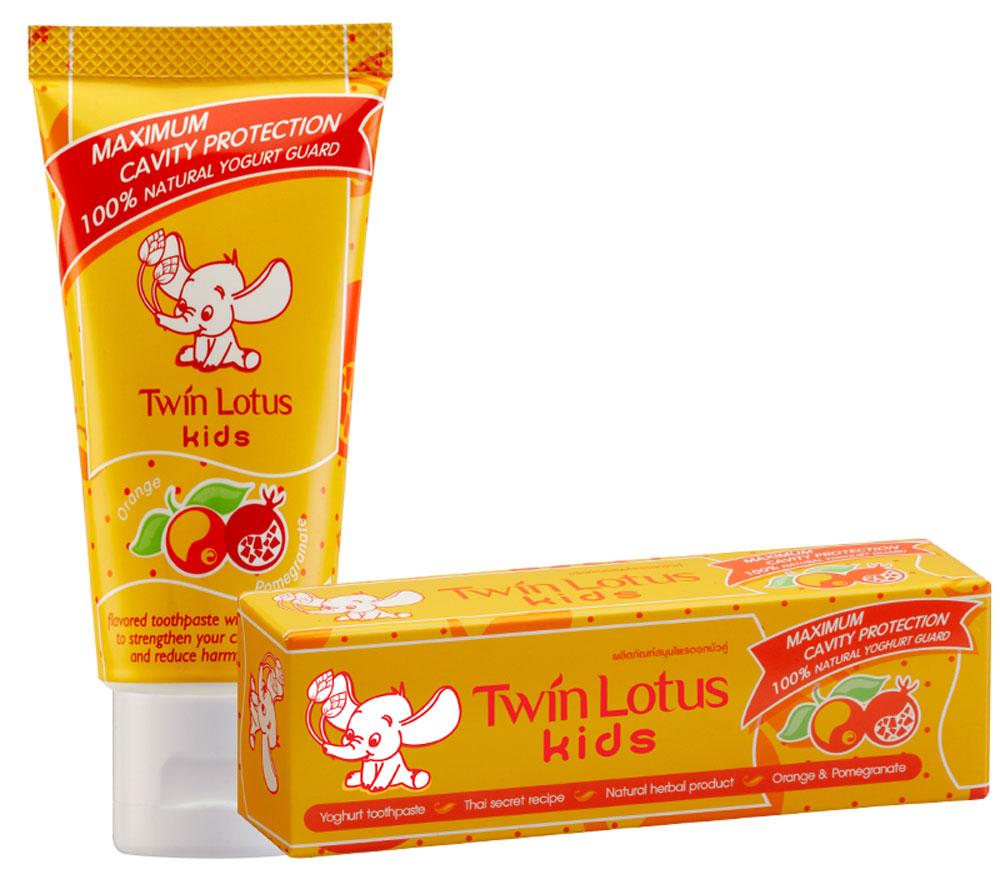 Twin Lotus Детская зубная паста Апельсин и гранат, 50 г1329Для молочных и постоянных зубов.Не содержит фтора, лауритсульфат натрия, парабенов, ПЭГ.Зубная паста предназначена для детей от 3 до 10 лет. Препятствуетросту бактерий, обеспечивая надежную защиту от кариеса, нормализуют микробный состав полости рта, укрепляет зубную эмаль, предотвращая потерю кальция, обладает приятным фруктовым вкусом.