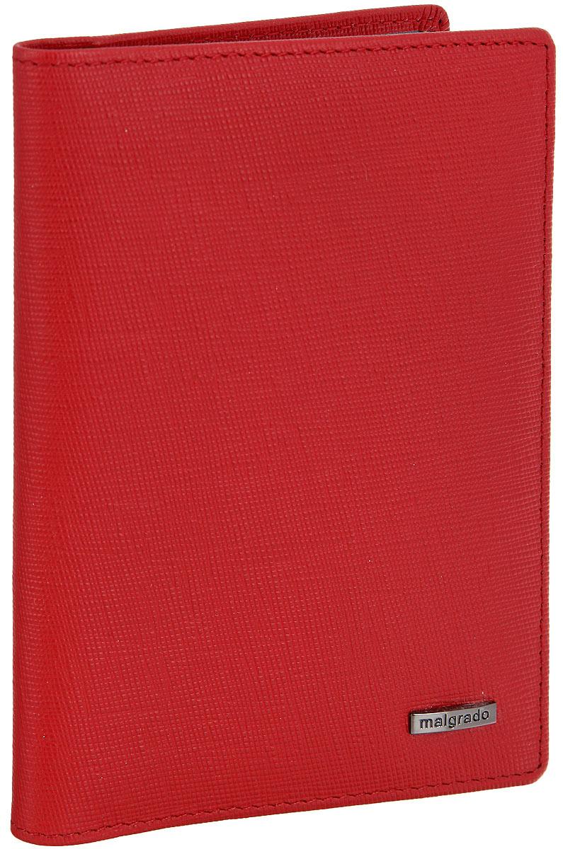 Обложка для паспорта женская Malgrado, цвет: красный. 54019-1380154019-13801D RedСтильная обложка для паспорта Malgrado выполнена из натуральной кожи с декоративным тиснением и оформлена металлической фурнитурой с символикой бренда.Изделие раскладывается пополам. Внутри расположены два накладных кармана, один из которых дополнен прозрачной вставкой из пластика, и пять накладных кармашков для пластиковых карт или визиток. Изделие дополнено съемным блоком для хранения автодокументов. Блок включает в себя четыре стандартных файла, один файл для хранения водительского удостоверения и один файл формата А3. Обложка для паспорта поставляется в фирменной упаковке.Обложка для паспорта поможет сохранить внешний вид ваших документов и защитит их от повреждений, а также станет стильным аксессуаром, который подчеркнет ваш образ.