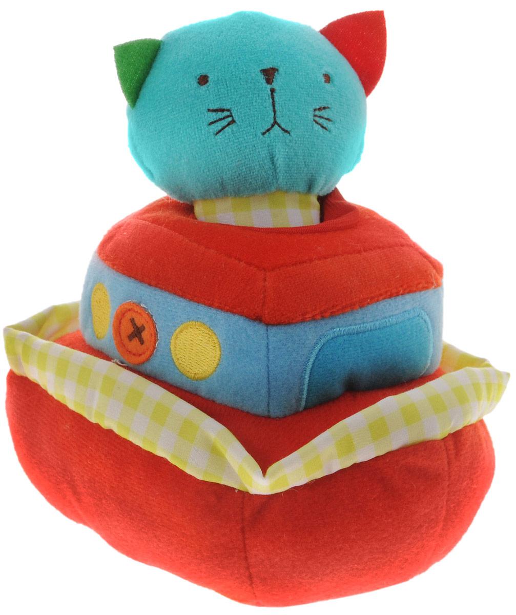 Bobby & Friends Мягкая развивающая игрушка Плюшевый транспорт цвет красный бирюзовый мягкие игрушки bobby