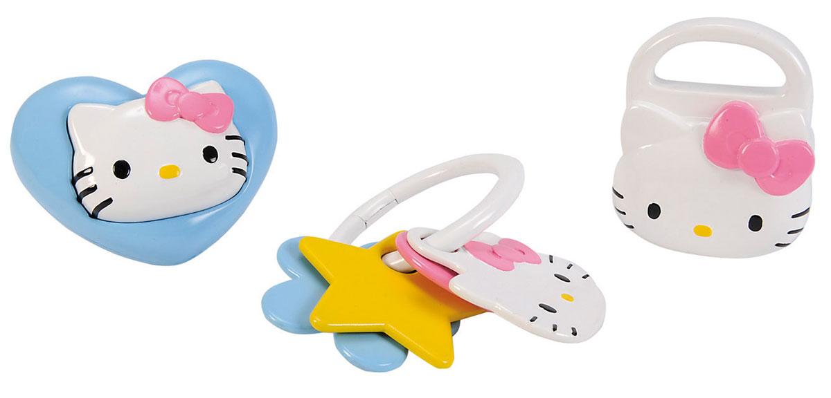 Simba Набор погремушек Hello Kitty 3 шт погремушки simba пирамида с шарами