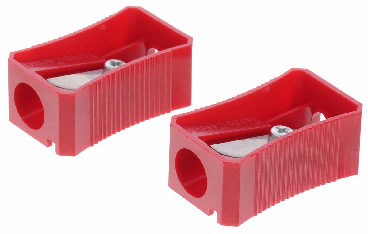 Faber-Castell Точилка цвет красный 2 шт263221_красныйНабор точилок Faber-Castell предназначен для затачивания классических простых и цветных карандашей. В наборе две точилки из прочного пластика с рифленой областью захвата. Острые стальные лезвия обеспечивают высококачественную и точную заточку деревянных карандашей.