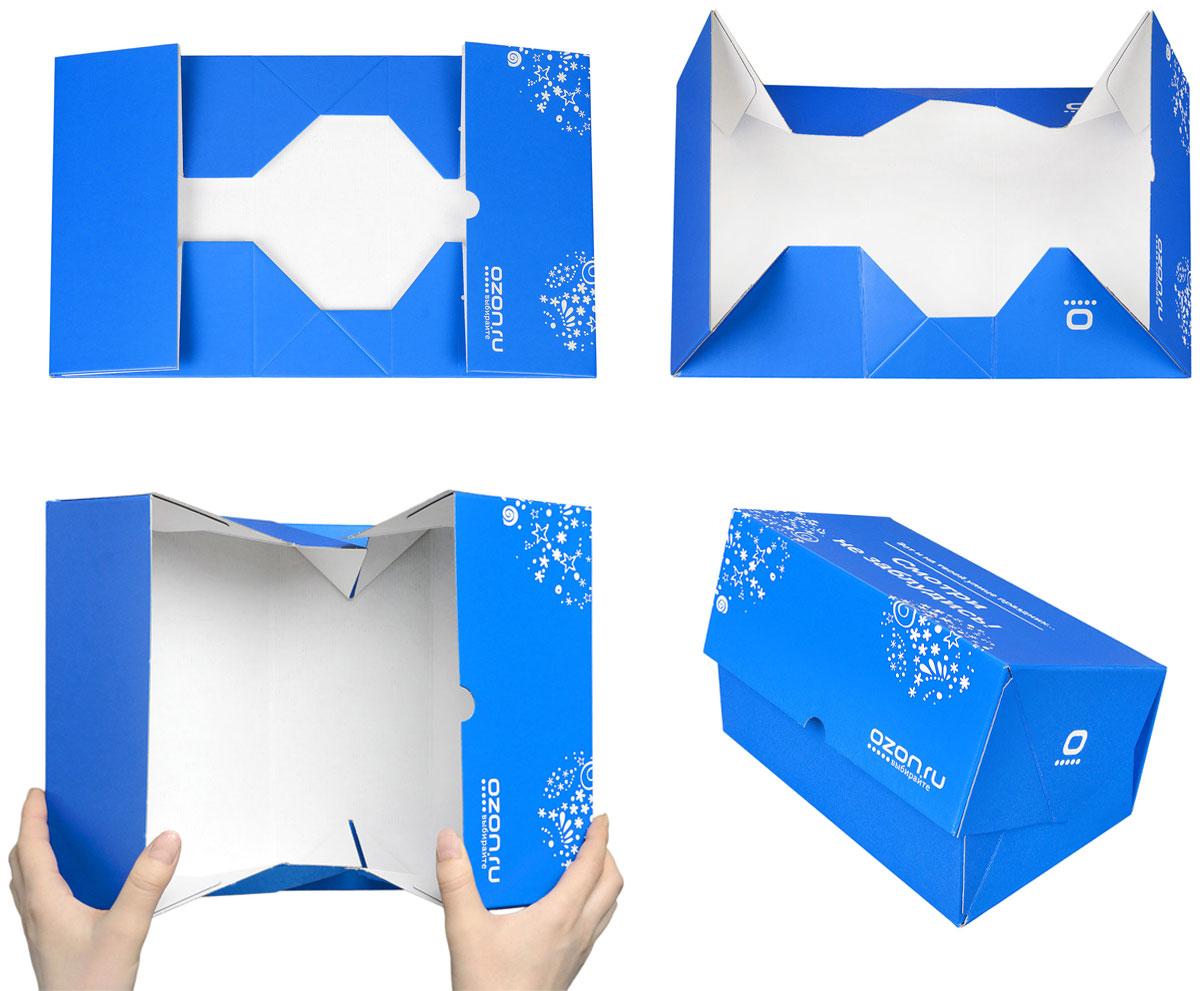 """Складная подарочная коробка от OZON.ru с веселой надписью """"Вот и на твоей улице праздник! Смотри не заблудись!"""" - это интересное решение для упаковки. Коробка выполнена из тонкого картона с матовой ламинацией. Данная упаковка отлично подходит для небольших подарков и не требует дополнительных элементов - лент или бантов. Размер (в сложенном виде): 23.4 х 14.3 х 9.7 см.Размер (в разложенном виде): 39 х 23.5 х 0.5 см."""