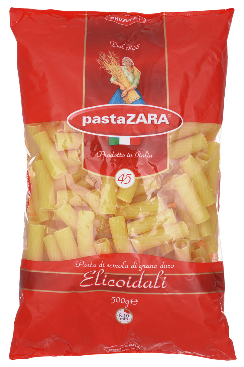 Pasta Zara Трубка рифленая макароны, 500 г pasta zara ракушка макароны 500 г