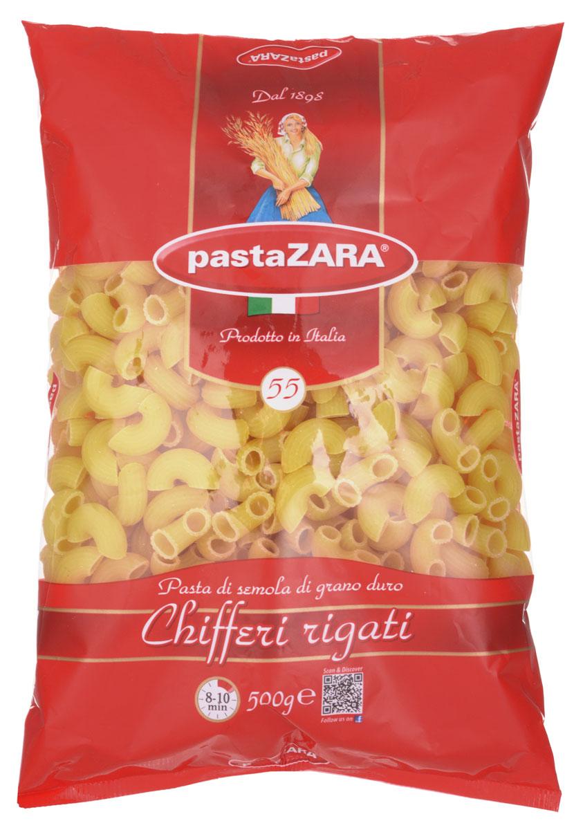 Pasta Zara Рожок рифленый макароны, 500 г pasta zara перо гладкое макароны 500 г