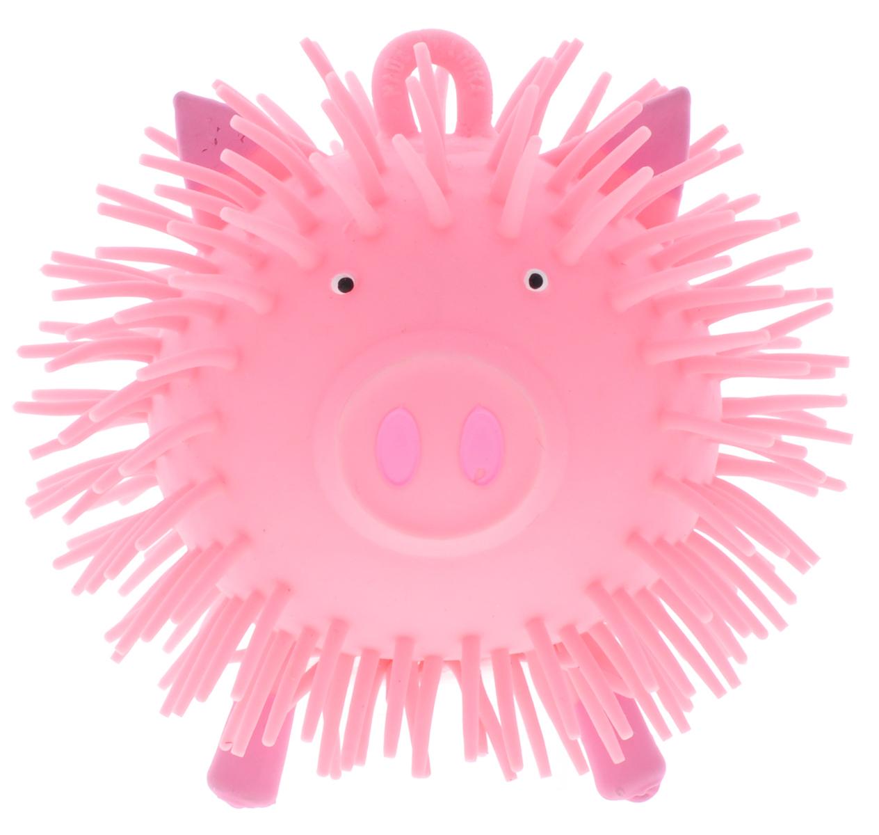 1TOY Игрушка-антистресс Ё-Ёжик Животное цвет розовый злая птица ё ёжик со светомт56233