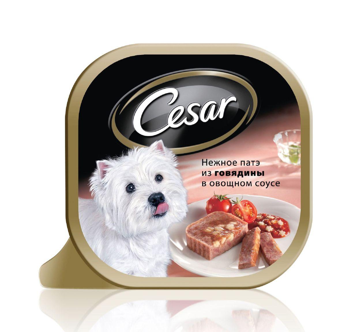 Консервы Cesar, для взрослых собак мелких пород, нежное патэ из говядины в овощном соусе, 100 г10218Консервы Cesar - это полнорационный консервированный корм для взрослых собак мелких пород. Консервы представляют собой аппетитные кусочки мяса в подливе. Кроме того, в их состав входят овощи и ароматные травы, поэтому Cesar придется по душе даже самым привередливым собакам.Консервы приготовлены исключительно из натурального сырья. Не содержат искусственных красителей, консервантов и усилителей вкуса. Состав: говядина (минимум 21%), курица, паста (минимум 1%), овощи, травы, растительное масло, витамины и минеральные вещества.Пищевая ценность в 100 г: белки - 8 г, жир - 3,5 г, зола - 0,3 г, клетчатка - максимум 0,5 г, влага 85 г. Энергетическая ценность в 100 г: 70 ккал.Товар сертифицирован.