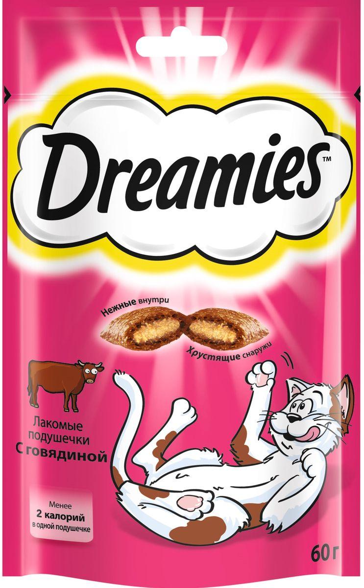 Лакомство для взрослых кошек Dreamies, подушечки с говядиной, 60 г36934Лакомство Dreamies - это сказочное лакомство, выполненное в виде хрустящих подушечек с вкусной начинкой, является добавкой к ежедневному рациону кошки. Обогащено витаминами и минералами.Незабываемая нежная говядина в хрустящей вкусной подушечке - это достойная награда вашему любимому зверю.Состав: белковые растительные экстракты, злаки, мясо и субпродукты (включая 4% говядины), масло и жиры, витамины и минеральные вещества.Пищевая ценность в 100 г: белки - 34 г, жиры - 20 г, зола - 9,5 г, клетчатка - 1 г, влага - 10 г, витамин А - 530,5 МЕ, витамин Е - 8,8 мг, витамин В1 - 1,5 мг, витамин В2 - 0,7 мг, витамин В6 - 0,6 мг, витамин D3 - 58,5 МЕ, пентагидрат сульфата меди - 2,3 мг, моногидрат сульфата марганца- 4,5 мг, йодид калия - 0,2 мг, моногидрат сульфата цинка - 19,9 мг.Вес: 60 г.Энергетическая ценность в 100 г: 386 ккал.Товар сертифицирован.