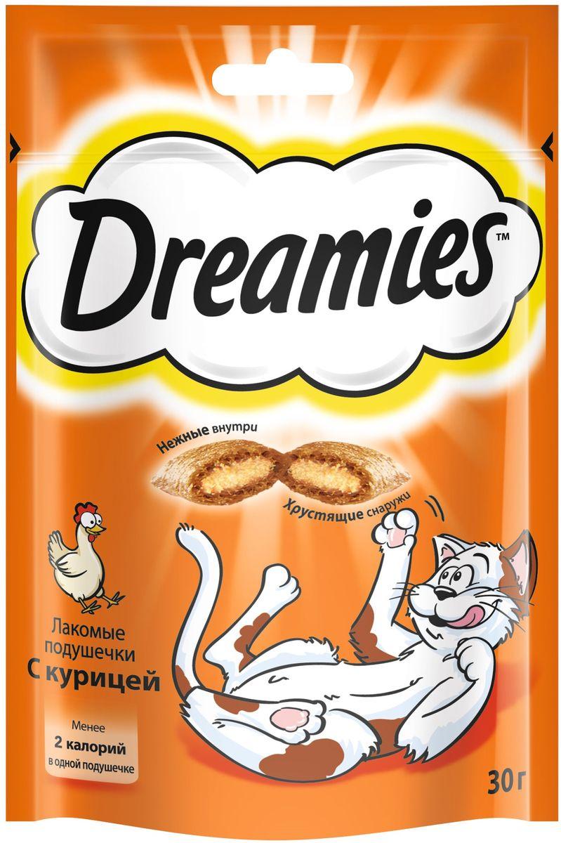Лакомство для взрослых кошек Dreamies, подушечки с курицей, 30 г37737Лакомство Dreamies - это сказочное лакомство, выполненное в виде хрустящих подушечек с вкусной начинкой, является добавкой к ежедневному рациону кошки. Обогащено витаминами и минералами.Незабываемая нежная курочка в хрустящей вкусной подушечке - это достойная награда вашему любимому зверю.Состав: белковые растительные экстракты, злаки, мясо и субпродукты (включая 4% курицы), масло и жиры, витамины и минеральные вещества.Пищевая ценность в 100 г: белки - 34 г, жиры - 20 г, зола - 9,5 г, клетчатка - 1 г, влага - 10 г, витамин А - 528,8 МЕ, витамин Е - 8,8 мг, витамин В1 - 1,5 мг, витамин В2 - 0,7 мг, витамин В6 - 0,6 мг, витамин D3 - 58,3 МЕ, пентагидрат сульфата меди - 2,1 мг, моногидрат сульфата марганца- 4,3 мг, йодид калия - 0,2 мг, моногидрат сульфата цинка - 19,4 мг.Вес: 30 г.Энергетическая ценность в 100 г: 386 ккал.Товар сертифицирован.