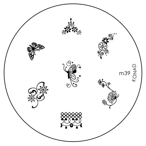 Konad Печатная форма (диск) M39 image plateSN-IPM039Диск для стемпинга. Теперь создавать дизайны на ногтях стало очень просто