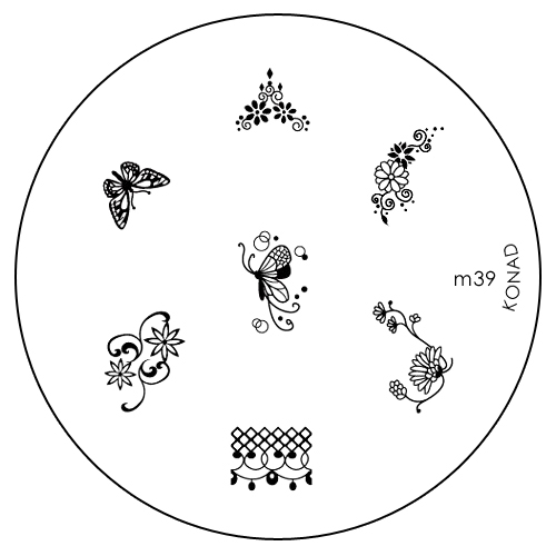 Konad Печатная форма (диск) M39 image plate декор для маникюра konad печатная форма диск image plate m73