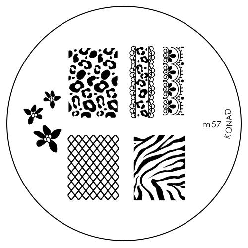 Konad Печатная форма (диск) M57 image plateSN-IPM057Диск для стемпинга. Теперь создавать дизайны на ногтях стало очень просто
