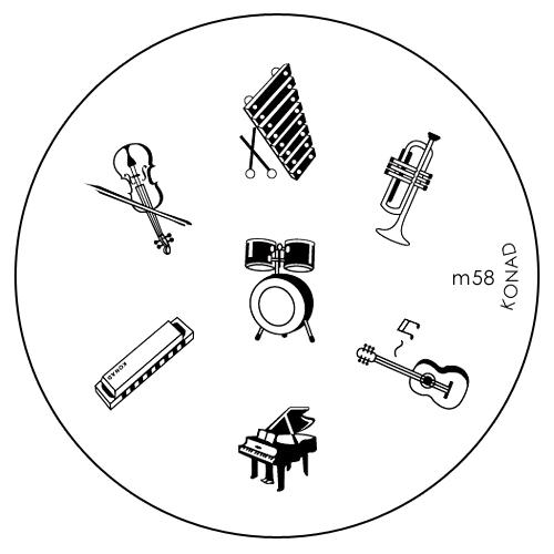 Konad Печатная форма (диск) M58 image plateSN-IPM058Диск для стемпинга. Теперь создавать дизайны на ногтях стало очень просто