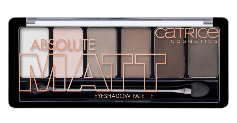 CATRICE Тени для век 6 в 1 Absolute Matt Eyeshadow Palette 010 матовые оттенки, 6гр для глаз catrice the ultimate chrome collection eyeshadow palette