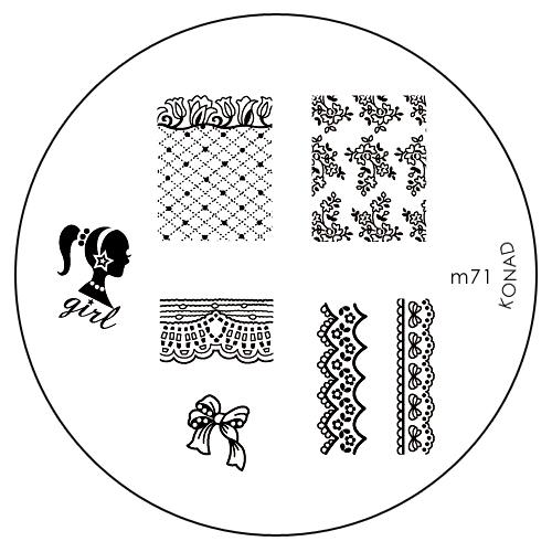 Konad Печатная форма (диск) M71 image plateSN-IPM071Диск для стемпинга. Теперь создавать дизайны на ногтях стало очень просто