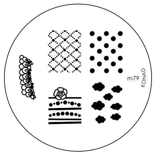 Konad Печатная форма (диск) M79 image plate  konad m19