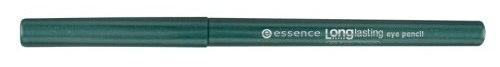 essence Карандаш для глаз Long lasting зеленый т.12, 0,28гр46578Long lasting от Essence - мягкий карандаш для глаз, предназначенный для точного нанесения линий. Стойкость и интенсивный цвет: благодаря инновационному поворотному механизму этот карандаш позволяет невероятно легко создать четкий, аккуратный и выразительный контур. Не требует заточки. Достоинства: Мягко и нежно ложится на веко Насыщенный пигмент Легко создать аккуратную линию любой толщины В течение дня цвет не тускнеет Легко удаляется при снятии макияжа.