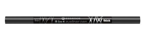 essence Карандаш для глаз Карандаш-подводка 2 in 1 eyeliner pen, 1мл карандаш