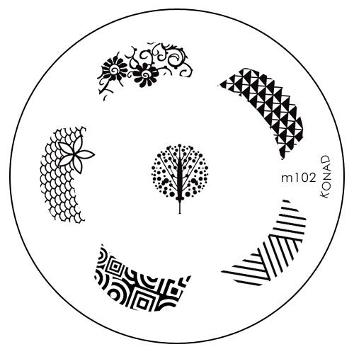 Konad Печатная форма (диск) M102 image plateSN-IPM102Диск для стемпинга. Теперь создавать дизайны на ногтях стало очень просто