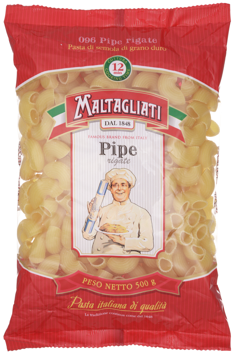 Maltagliati Pipe Rigate Улитка макароны, 500 г maltagliati penne перья макароны 500 г