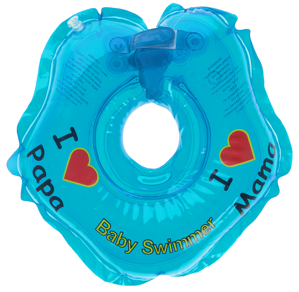 Baby Swimmer Круг на шею цвет голубой 3-12 кг roxi kids fl002 круг на шею для купания малышей