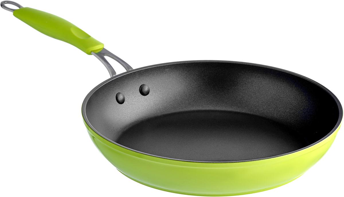 Сковорода Esprado Ritade, цвет: салатовый. Диаметр 28 см esprado esprado кастрюля с крышкой 1 9 л ritade