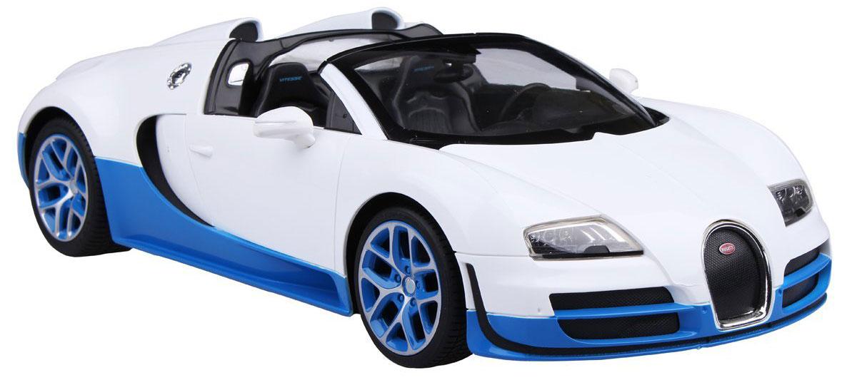 Rastar Радиоуправляемая модель Bugatti Veyron 16.4 Grand Sport Vitesse цвет белый голубой bugatti bu182amoko66
