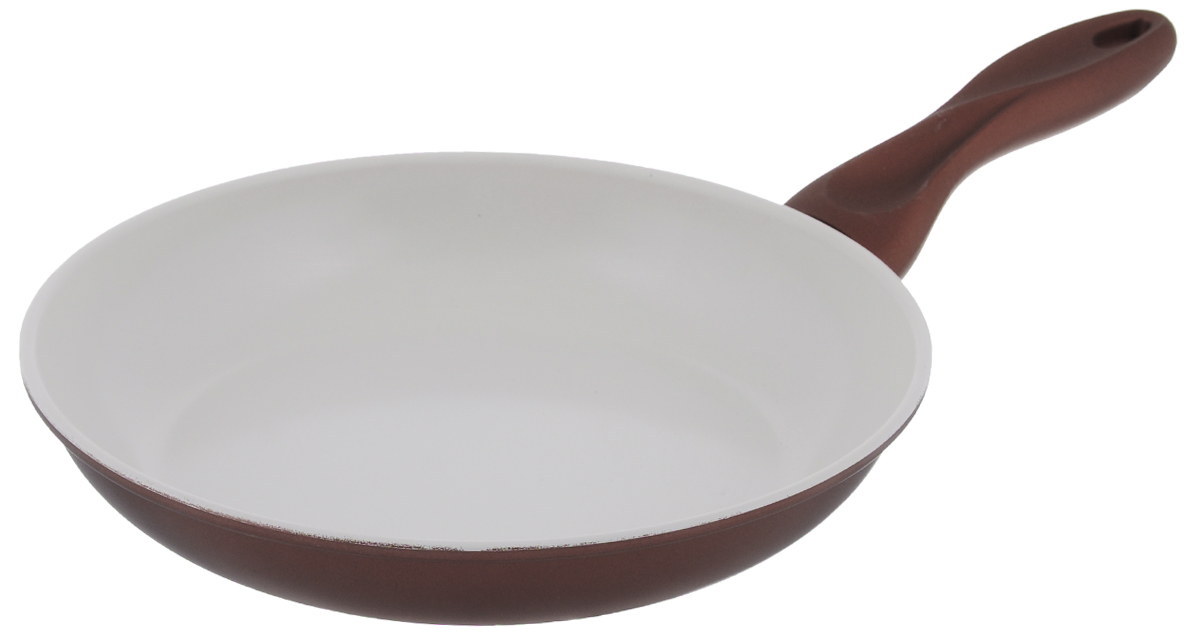 Сковорода Mayer & Boch, с керамическим покрытием, цвет: бронзовый. Диаметр 24 см22228_бронзовыйСковорода Mayer & Boch изготовлена из углеродистой стали с высококачественным керамическим покрытием. Керамика не содержит вредных примесей ПФОК, что способствует здоровому и экологичному приготовлению пищи. Кроме того, с таким покрытием пища не пригорает и не прилипает к стенкам, поэтому можно готовить с минимальным добавлением масла и жиров. Гладкая, идеально ровная поверхность сковороды легко чистится, ее можно мыть в воде руками или вытирать полотенцем.Эргономичная ручка специального дизайна выполнена из силикона.Сковорода подходит для использования на газовых и электрических плитах. Также изделие можно мыть в посудомоечной машине.Диаметр: 24 см.Высота стенки: 4 см.Толщина стенки: 1,5 мм.Толщина дна: 2 мм.Длина ручки: 16 см.Диаметр дна: 18 см.