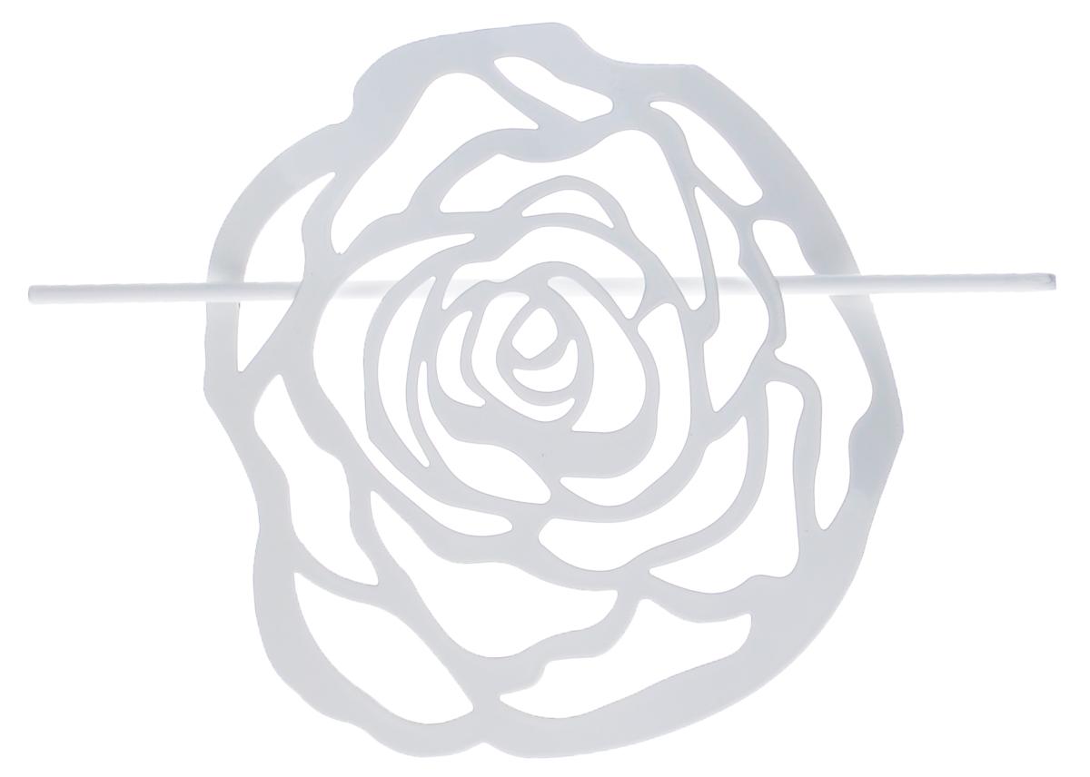 Заколка для штор Мир Мануфактуры, цвет: белый697020_1 белыйЗаколка Мир Мануфактуры, выполненная извысококачественного металла, предназначена дляфиксации штор или для формирования декоративных складокна ткани. С ее помощью можно зафиксироватьшторы или скрепить их, придать им требуемоеположение, сделать симметричные складки.Заколка для штор является универсальнымизделием, которое превосходно подойдет длялюбых видов штор. Заколка придаст шторамвосхитительный, стильный внешний вид и добавитуют в интерьер помещения.Размер декоративного элемента: 16,5 см х 16,2 см.Длина палочки: 23 см.