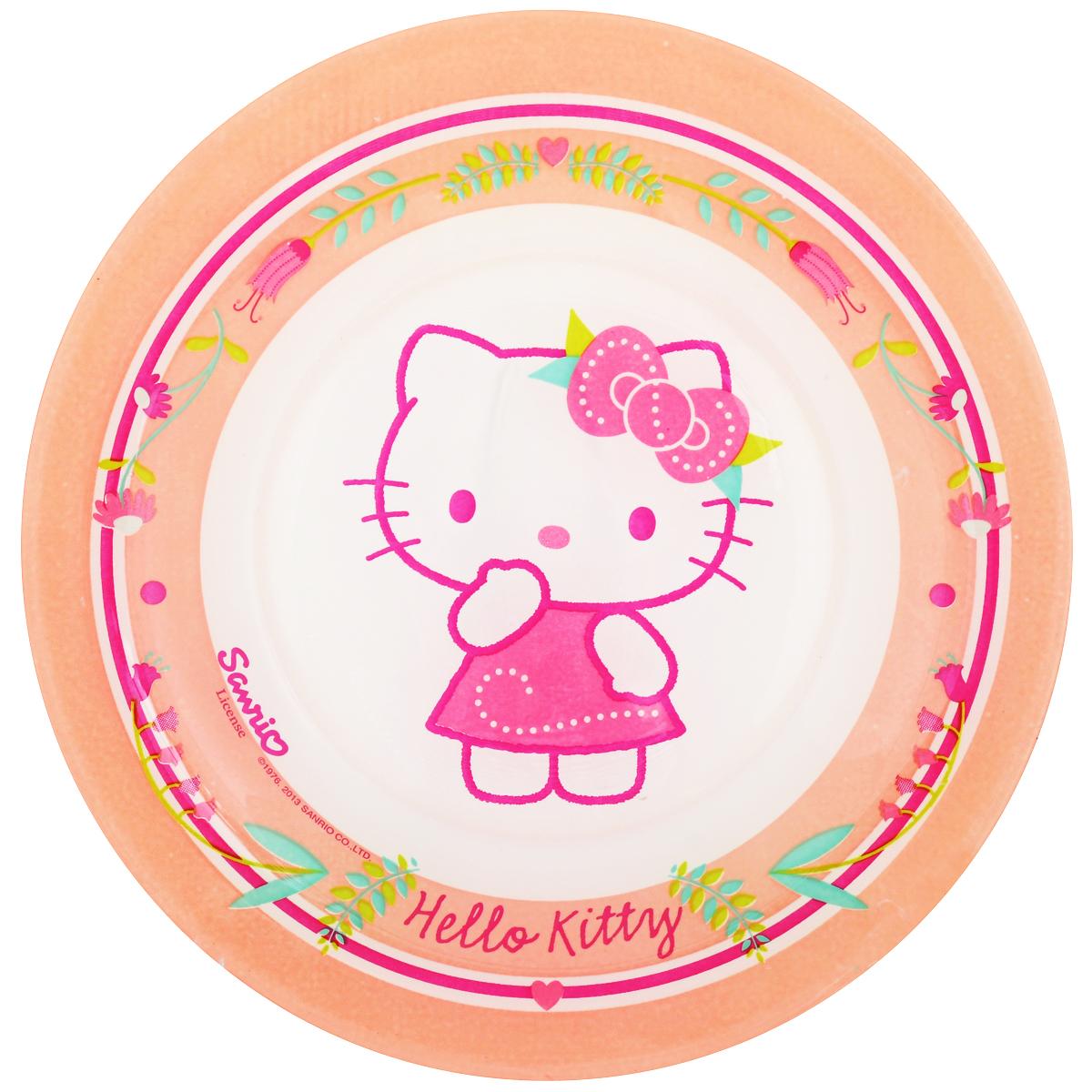 Тарелка десертная Luminarc Hello Kitty. Nordic Flower, диаметр 19,5 смJ0036Десертная тарелка Luminarc Hello Kitty. Nordic Flower, изготовленная из ударопрочного стекла, имеет изысканный внешний вид. Такая тарелка прекрасно подходит как для торжественных случаев, так и для повседневного использования. Идеальна для подачи десертов, пирожных, тортов и многого другого. Она прекрасно оформит стол и станет отличным дополнением к вашей коллекции кухонной посуды. Диаметр тарелки: 19,5 см.