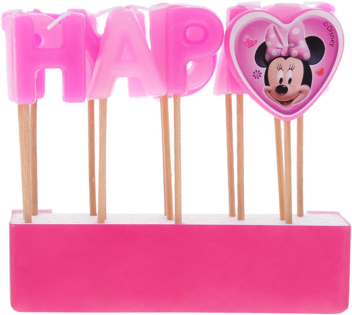 Procos Свечи для торта детские Свечи-буквы Кафе Минни Happy Birthday procos свечи буквы для торта детские винни happy birthday