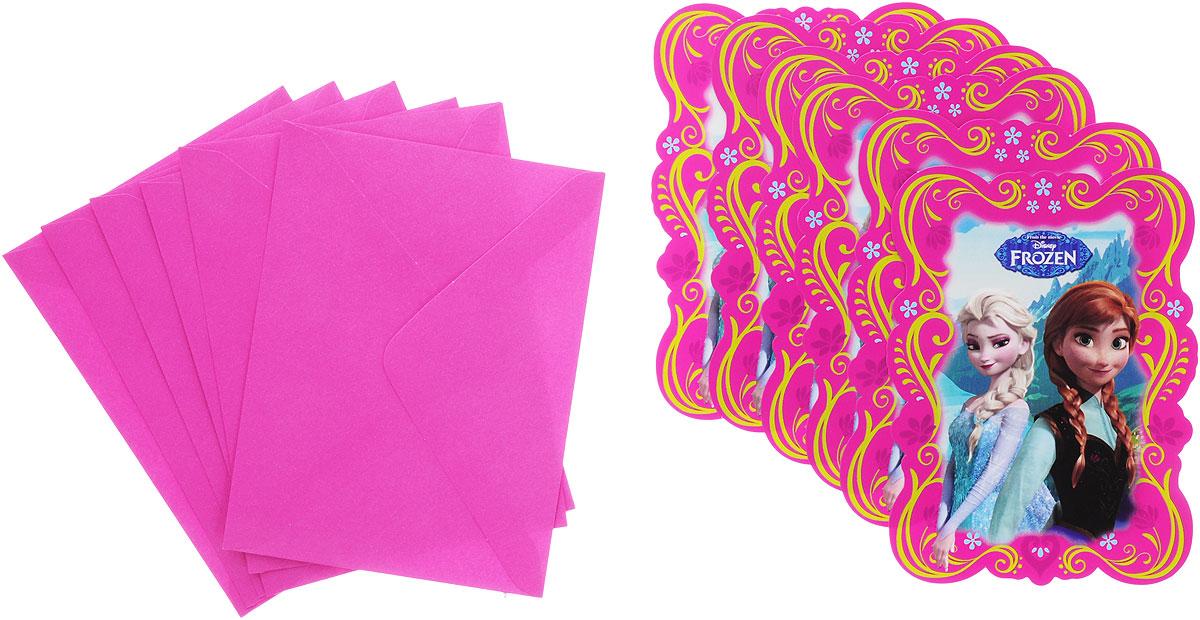 Procos Пригласительные открытки в конвертах Холодное сердце 6 шт -  Аксессуары для детского праздника