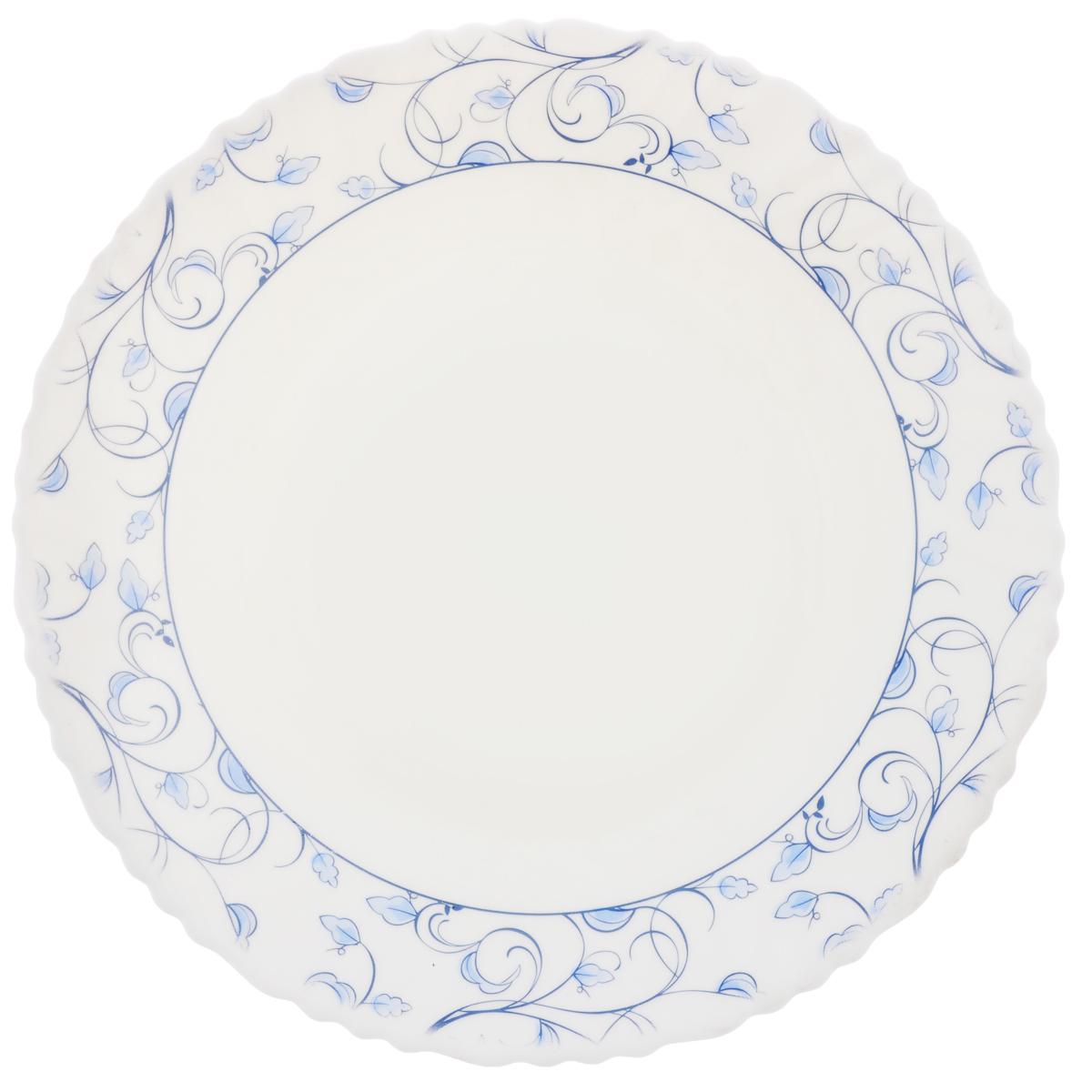 Тарелка десертная Chinbull Нормандия, диаметр 19 смOLHP-75/310Тарелка десертная Chinbull Нормандия, выполненная из высококачественной стеклокерамики, декорирована изображением листьев. Изящный дизайн придется по вкусу и ценителям классики, и тем, кто предпочитает утонченность. Тарелка Chinbull идеально подойдет для сервировки стола и станет отличным подарком к любому празднику.Диаметр тарелки (по верхнему краю): 19 см.Высота стенки: 2 см.