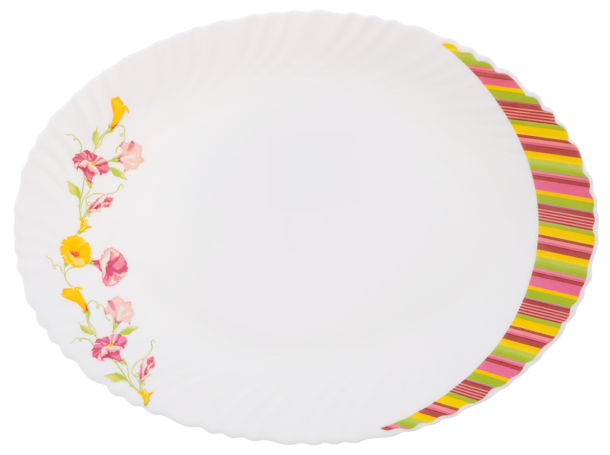 Блюдо Chinbull Эльзас, 30 см х 22,5 смOLHYP-120/308Овальное блюдо Chinbull Эльзас выполнено из высококачественной стеклокерамики и декорирован ярким изображением цветов. Оно прекрасно впишется в интерьер вашей кухни и станет достойным дополнением к кухонному инвентарю. Блюдо Chinbull Эльзас подчеркнет прекрасный вкус хозяйки, но и станет отличным подарком.Размер блюда (по верхнему краю): 30 см х 22,5 см.Высота стенки: 1,8 см.