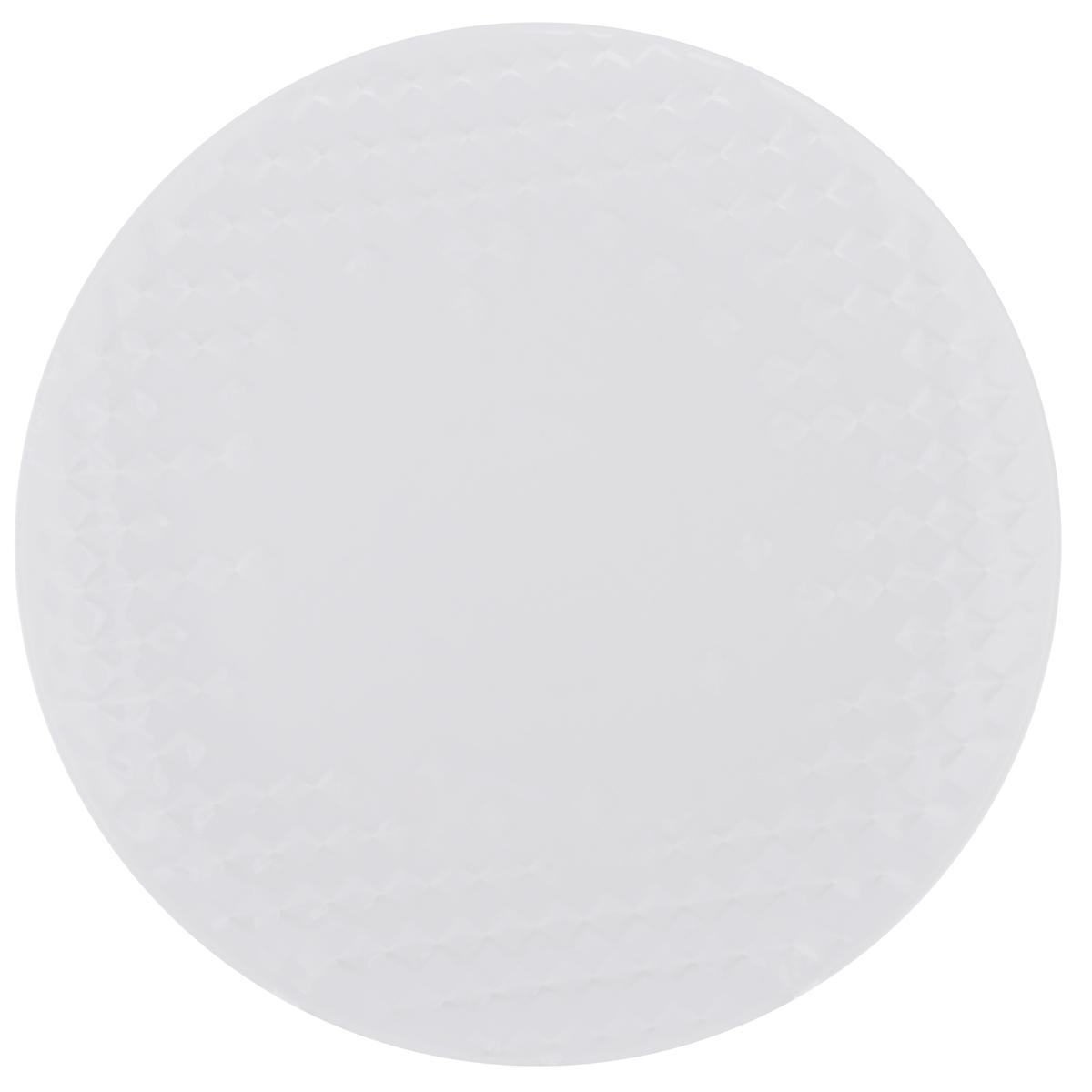 Тарелка обеденная Walmer Sapphire, диаметр 25,5 см52212Тарелка обеденная Walmer Sapphire изготовлена из фарфора белого цвета. Предназначена для красивой подачи различных блюд. Изделие декорировано необычным рельефом.Такая тарелка украсит сервировку стола и подчеркнет прекрасный вкус хозяйки. Не применять абразивные чистящие средства.Диаметр: 25,5 см. Высота: 2,5 см.