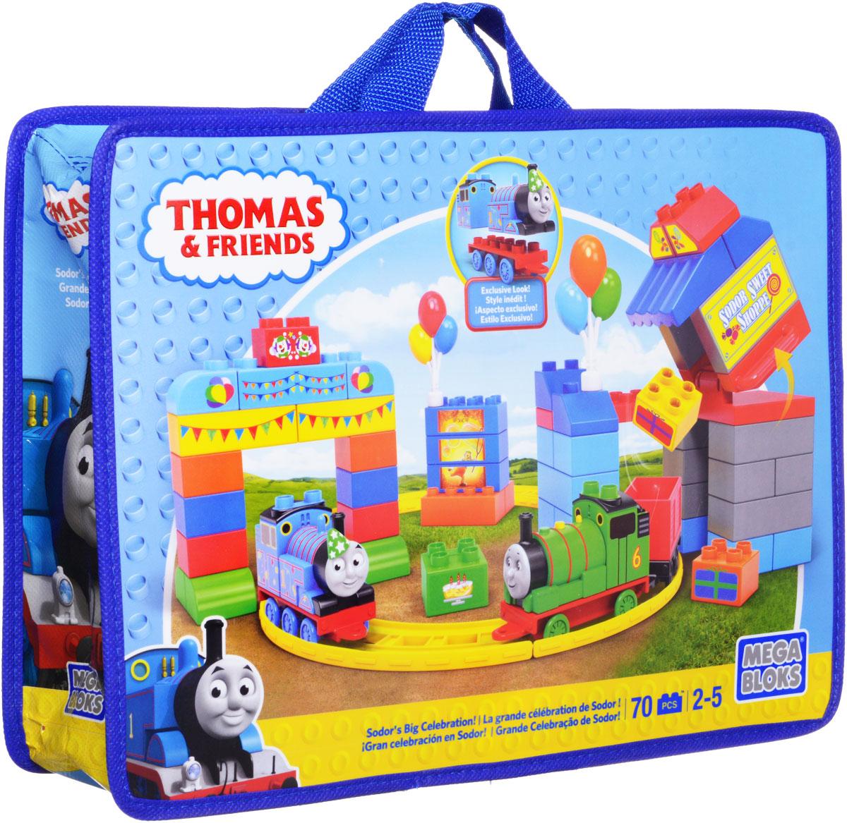 Mega Bloks Томас и друзья Конструктор День рождения Томаса конструкторы mega bloks томас и друзья томас и гарольд