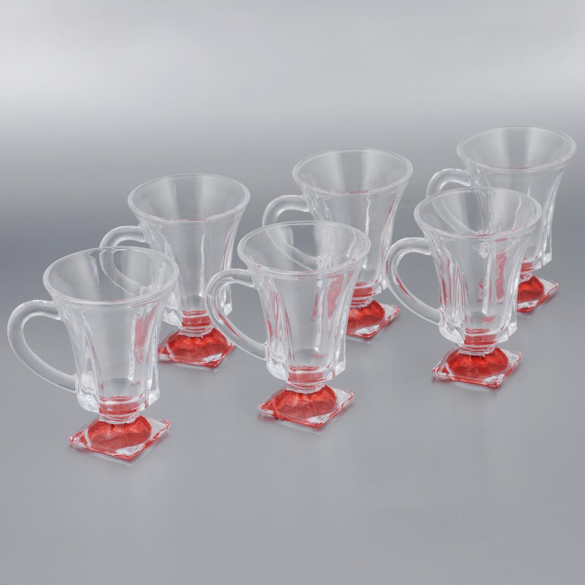 Набор стаканов для глинтвейна Mayer & Boch Loraine, цвет: прозрачный, красный, 150 мл, 6 шт20220_красныйНабор Mayer & Boch Loraine состоит из шести стаканов, выполненных из прочного стекла. Предметы набора имеют цветную ножку и декорированы рельефом. Они излучают приятный блеск и издают мелодичный звон. Для удобства изделия оснащены изящной ручкой.Набор Mayer & Boch Loraine прекрасно оформит интерьер кабинета или гостиной и станет отличным дополнением бара. Такой набор также станет хорошим подарком к любому случаю. Диаметр стакана (по верхнему краю): 8 см.Высота стакана: 11 см.