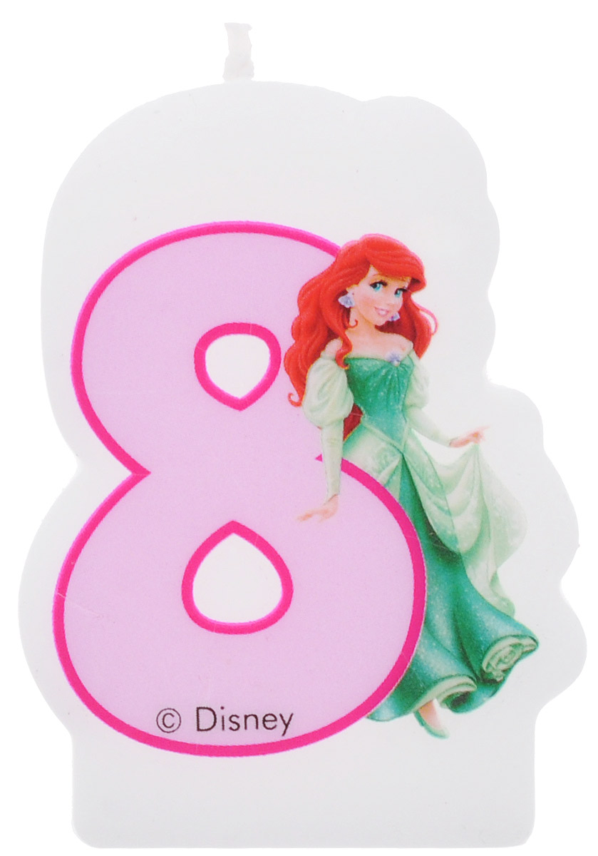 Procos Свеча-цифра для торта Принцессы 8 лет