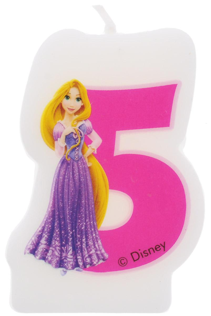 Procos Свеча-цифра для торта Принцессы 5 лет объемная свечка микки 5 лет