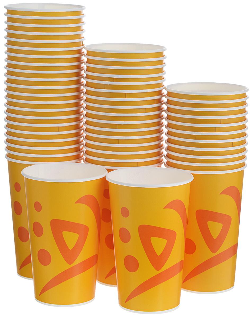Набор одноразовых стаканов Huhtamaki Whizz, 400 мл, 50 шт набор одноразовых тарелок huhtamaki whizz цвет оранжевый диаметр 23 см 50 шт