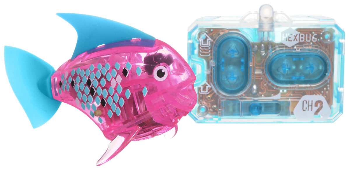 Hexbug Микро-робот на радиоуправлении Рыба-ангел цвет розовый аквариум на одну рыбку