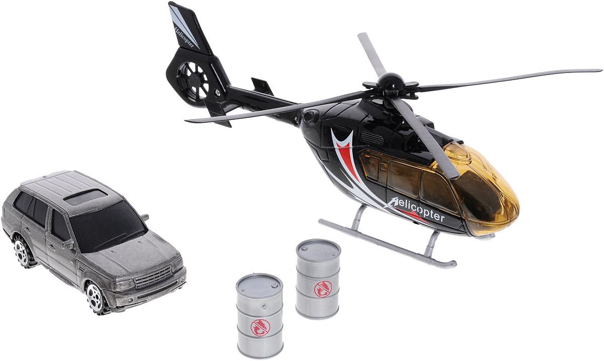 Big motors Набор игровой Вертолет и машинка