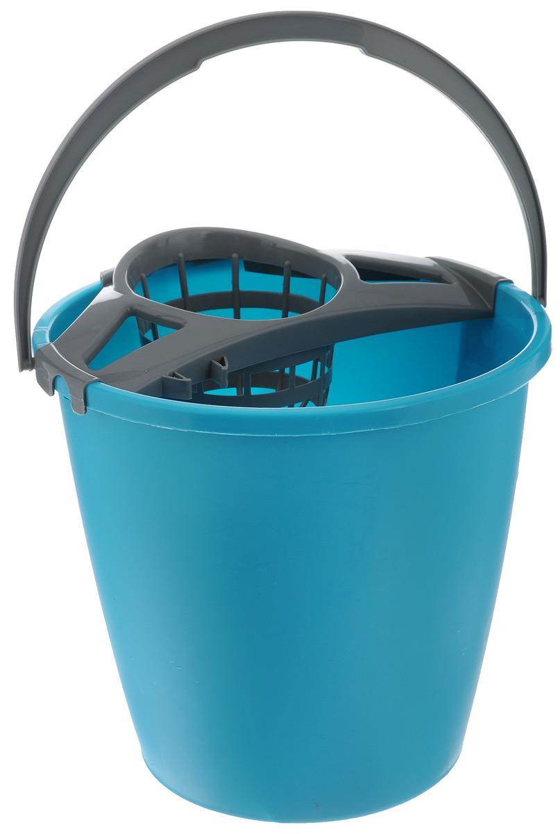 Ведро для уборки York, с насадкой для отжима швабры, 10 л. 71037003Ведро York, изготовленное из полипропилена, порадует практичных хозяек. Изделие снабжено специальной насадкой, которая обеспечивает интенсивный отжим ленточных швабр. Это значительно уменьшает физические нагрузки при мытье полов. Насадка надежно крепится на ведро и также легко снимается, позволяя хранить ее отдельно. Для удобного использования ведро оснащено эргономичной ручкой.Размер ведра (по верхнему краю): 27 см х 27 см. Высота: 25,5 см. Объем: 10 л.