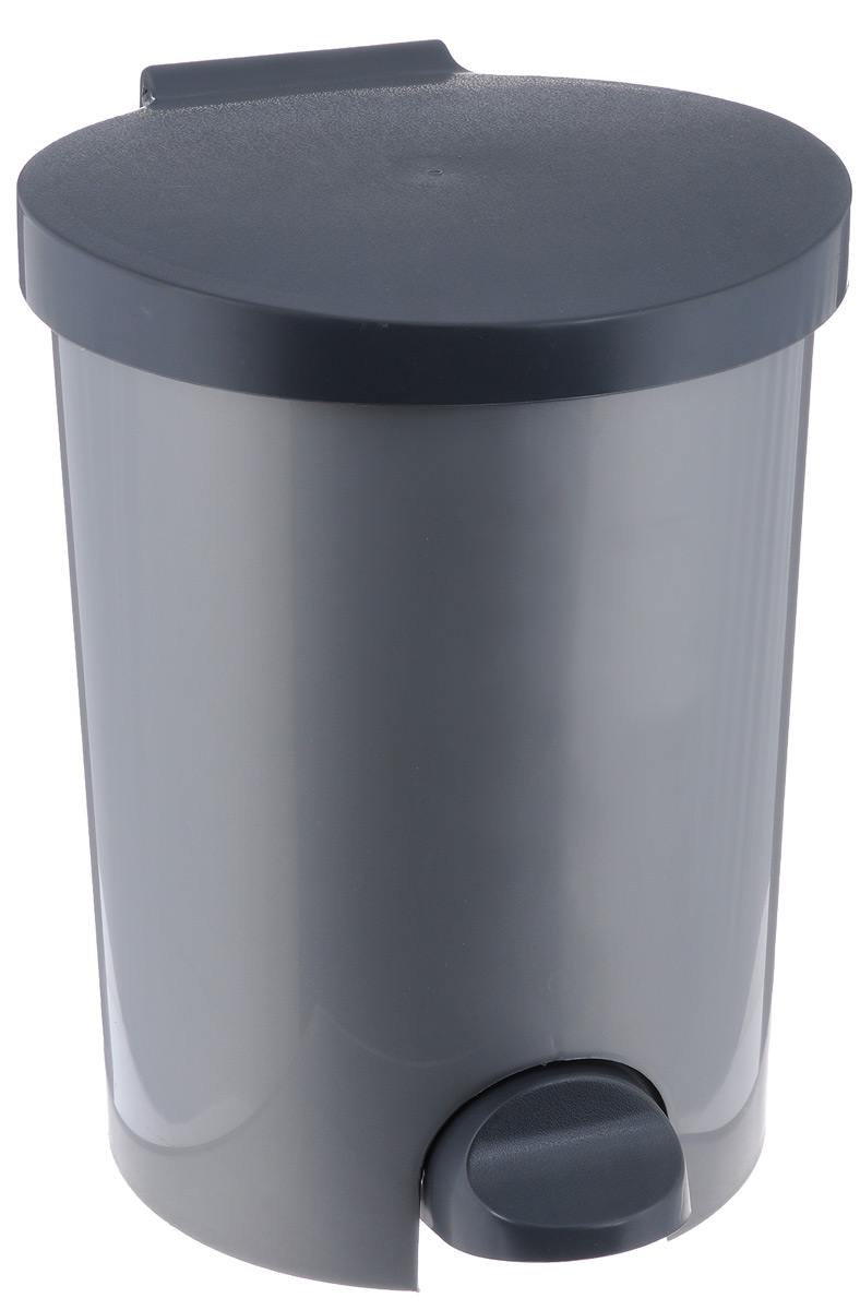 """Контейнер для мусора """"Curver"""" изготовлен из высококачественного пластика. Контейнер оснащен педалью, с помощью которой можно открыть крышку. Закрывается крышка бесшумно, плотно прилегает, предотвращая распространение запаха. Бороться с мелким мусором станет легко. Внутри ведро, которое при необходимости можно достать из контейнера. Благодаря лаконичному дизайну такой контейнер идеально впишется в интерьер и дома, и офиса."""